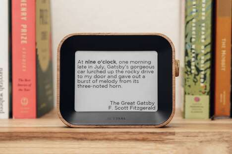 Literature-Displaying Clocks