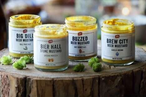 Gourmet Beer-Flavored Mustards
