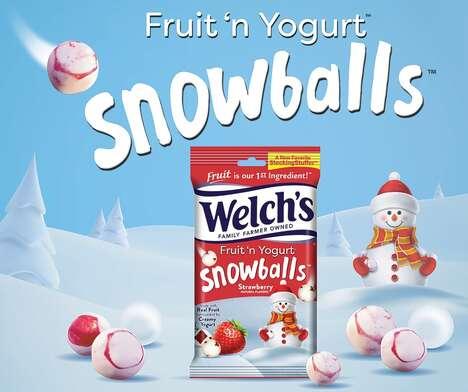 Wintry Yogurt Snacks