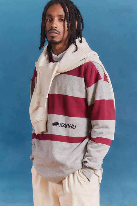 Retro Collegiate-Themed Streetwear