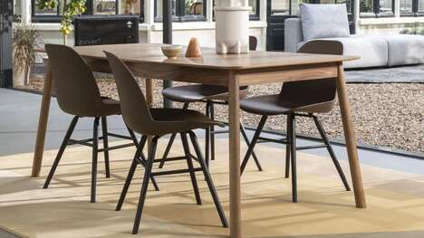Sustainable Coffee-Textured Dining Chairs