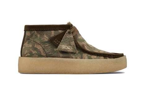 Autumn-Tonal Patterned Crepe Shoes