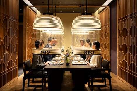 Pandemic-Friendly Transparent Dining Lanterns