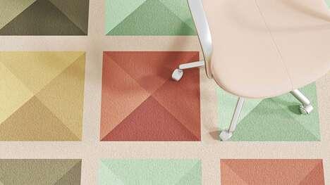 Geometric Pastel-Colored Carpets