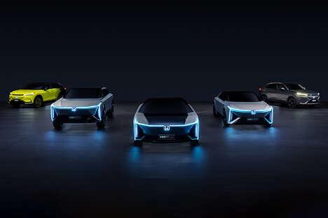 Futuristic High-Tech EVs