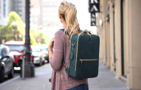 Chic Cork Leather Backpacks