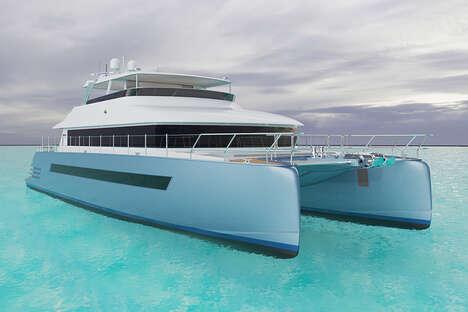 Opulent Aluminum-Hulled Catamarans