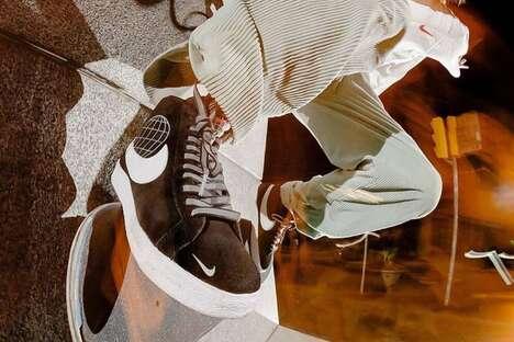 Suede Hi-Top Sleek Sneakers