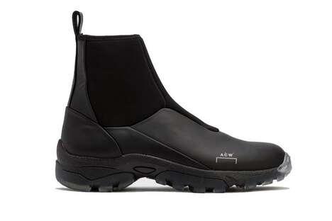 Utilitarian Neorprene Hi-Cut Boots