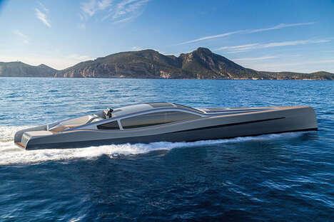 Sleek Hybrid Racing Yachts