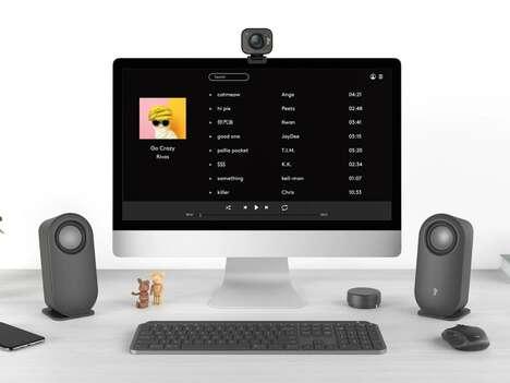 Wire-Free Desktop PC Speakers