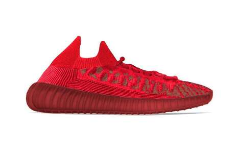 All-Red Knit Sneakers