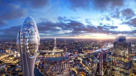 Futuristic Tulip-Shaped Towers