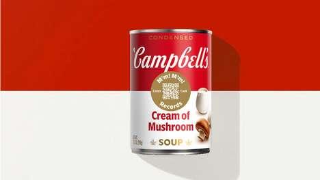 Musical QR Soup Cans