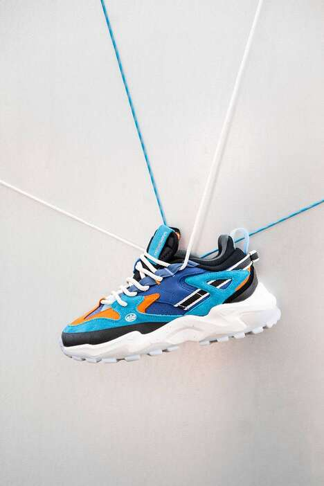 Vibrant Bulky Rope-Lace Sneakers