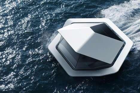 Futuristic Floating Habitats