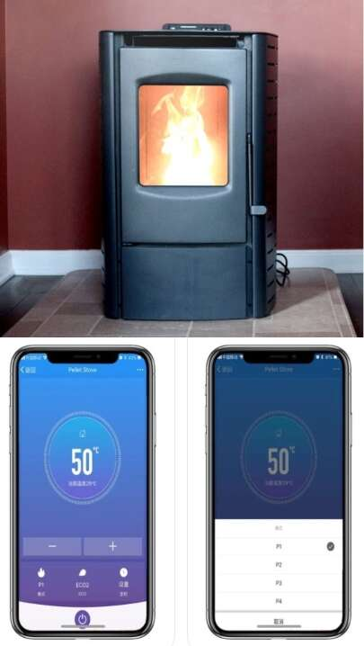 Connected Pellet Heater Stoves