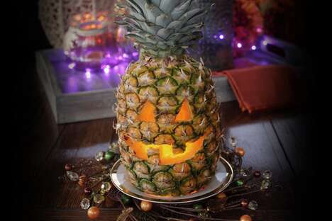 Spooky Carved Pineapples
