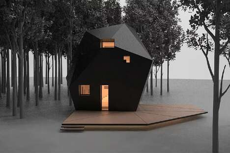 Oddly-Shaped Laminated Timber Cabins