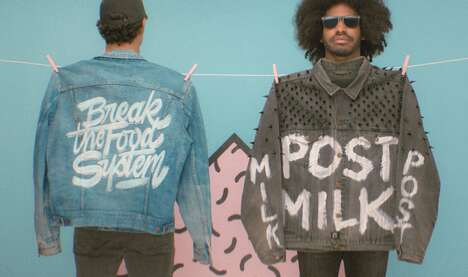 Oat Milk-Branded Upcycled Clothing