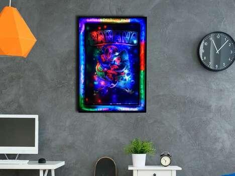 Illuminated LED Artwork Posters
