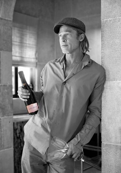 Actor-Backed Rosé Champagnes
