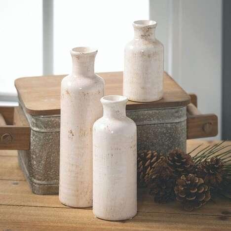 Rustic Ceramic Vase Sets