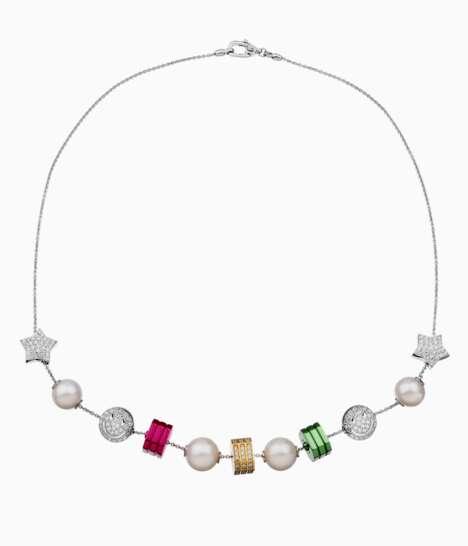Neon Diamond-Encrusted Jewelry
