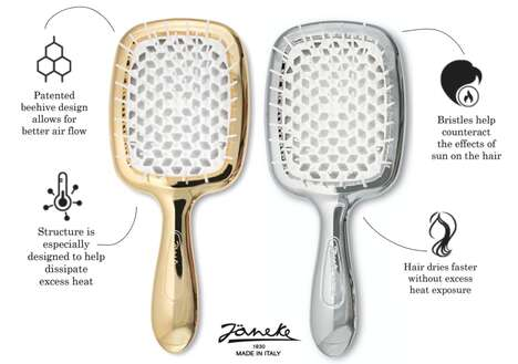 Honeycomb-Structured Hairbrushes