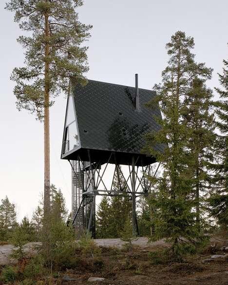 Stilted A-Frame Cabins