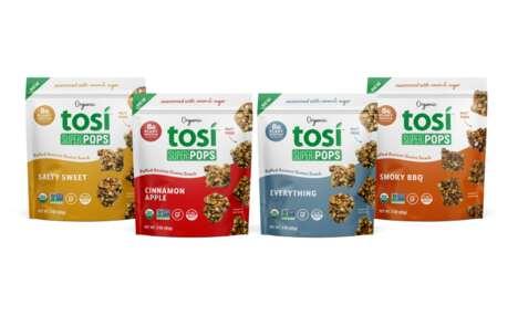 Plant-Based Puffed Grain Snacks