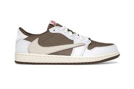 Low-Cut Mocha Tonal Sneakers