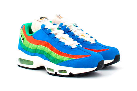 Vibrantly Colored Retro Sneakers