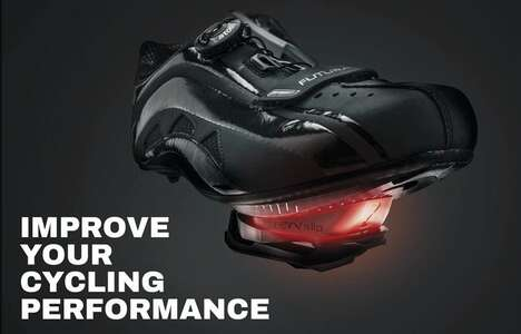 Cadence-Boosting Cyclist Shoe Devices