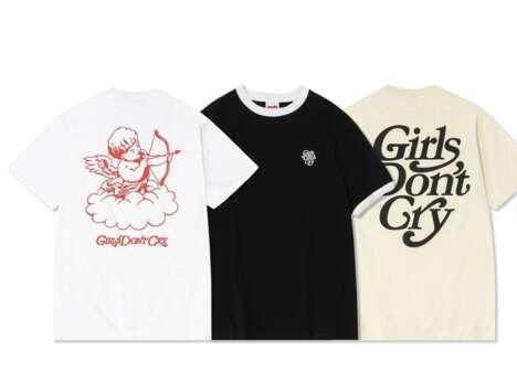 Cherub-Print Graphic T-Shirts