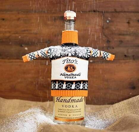 Ugly Sweater Vodka Bottles