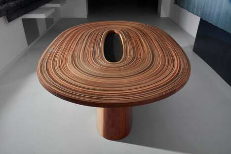 Coiled Timber Dining Tables