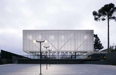 Suspended Box-Shaped Sports Pavilions