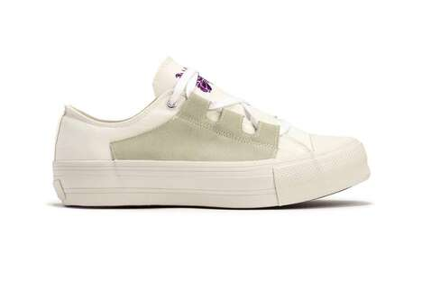 Asymmetric Branded Soled Sneakers