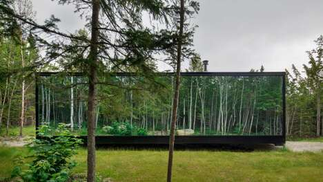 Mirrored Prefabricated Glamping Cabins