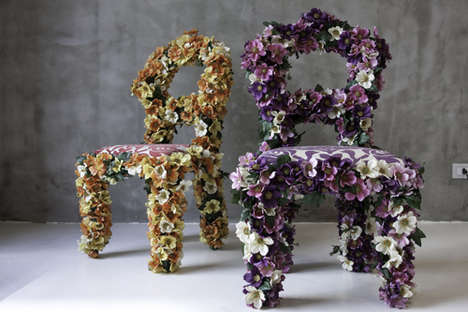 Flower Furniture - Wozzup Mutazionidinterni's Pieces Blossom With Creativity