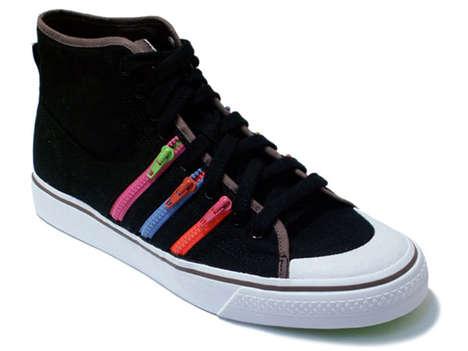 Zipper Stripe Sneakers