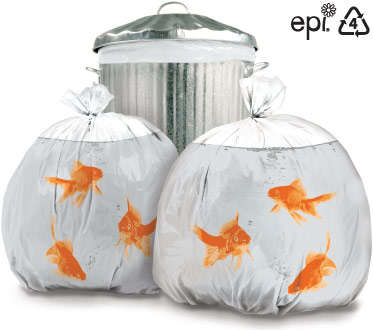 Aquarium Trash Bags - Playful Goldfish Garbage Sacks by Wieden & Kennedy