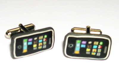 iPhone Cufflinks - Apple Phones Go to a Whole New Fashionably Geeky Extreme