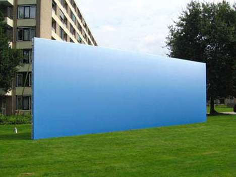 Fake Landscapes - Helmut Smits Creates a Clear Blue Sky Billboard
