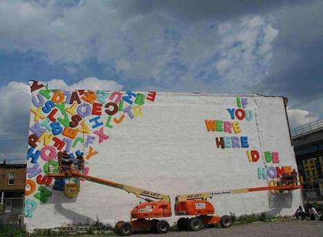 Love Letter Murals - Steve Powers Creates 50 Poetic Billboards