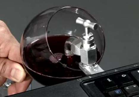 The Wine USB Key Commercials Show People Filling Up at Desks