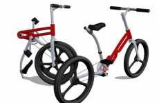 Futuristic Origami Bikes - The CIB City Bike Uses 'Jack-Knife' Folding Technique