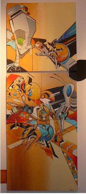 Robot War Graffiti