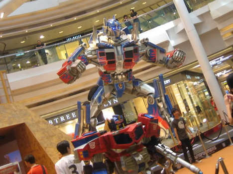 Transformer Art Exhibits - Optimus Prime Featured in Mall Display in Hong Kong